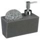 dispenser di sapone + spugna, grigio