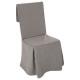 gris, cubierta de silla gris