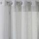 cortina blanca bordada 140x240, blanco