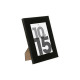 black plastic photo frame 10x15, black