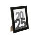 marco de fotos de plástico negro 20x25, negro