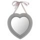 heart ribbon mirror 27x27.5, 3- times assorted , c