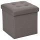 pouf foldable gray lysander, gray