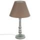 lampara madera taupe h36, taupe