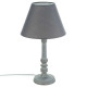 grijze houten lamp h36, grijs