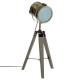 lámpara de metal / madera ebor bronce h68, bronce