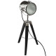 zwart metalen / houten lamp ebor h68, zwart