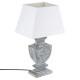 patina wood lamp gray h50, gray