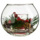 candle ball glass + deco, 4- times assorted