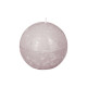 bougie boule rustic taupe d8, taupe
