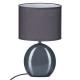 oval gray ceramic lamp h31, gray