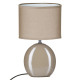ovale keramische lamp taupe h31, taupe
