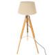 lámpara de pie trep runo bamb h146, marfil