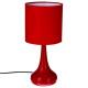 lámpara táctil de metal rojo h33, roja