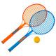 raqueta de tenis x 2 + pelota
