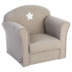 fauteuil classique taupe, taupe