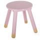 słodki różowy, różowy stołek