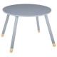 mesa suave gris d.60 cm, gris