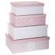 caja de almacenamiento x4 dulzura r, rosa