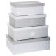 caja de almacenamiento x4 suavidad g, gris