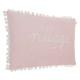 Poduszka różowy pompon 30x50, różowy