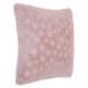 Cojín falsa piel rosa 40x40, rosa