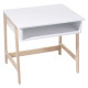 escritorio de madera y blanco, multicolor
