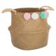 cesta pompones deco, multicolor