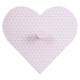 heart patere, 4- times assorted , assorted colors
