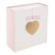 scatola cuore cuore oro, oro