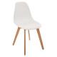 white polypropylene chair, white