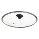 glazen deksel diameter 30cm, transparant