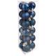 Weihnachtskugel 30mm x18 blau n