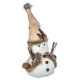 kerstbal decoratie pm schors + hout h32cm