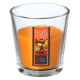bougie parfumées verre fr exot nina 90g, orange
