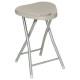 polypropylene folding stool tau basic, beige