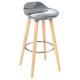 bar stool abs gray filel, gray