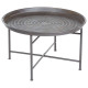 coffee table metal inst nat, gray