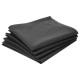 serviette table cotton gris f x4, gris foncé