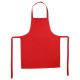 delantal 1 p ctn rojo 60x80, rojo