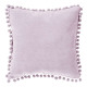 coussin pompons rose 40x40, rose clair