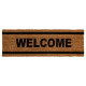 coco doormat 25x75 welcome, 4- times assorted , ma