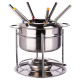 service fondue 6pers inox, argent