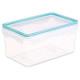 boite plast rectangle 1,81l clipeat, bleu