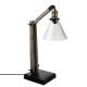 wood + metal lamp abj vr alak h59, brown