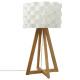 lámpara de papel de bambú h55 moki, blanco