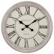 weiße Uhr o d48, weiß