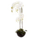 orchidee ceramic pot h115, white
