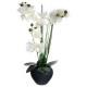 orchidee grijs keramische vaas h.53, grijs