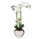 orchidee vase ceramique argent h.53, argent